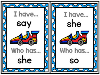 """ I have.... Who has...? Dolch Sight Words Primer List"
