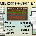 * U.S. Constitution UNIT (ALL 6 parts) highly visual, inte
