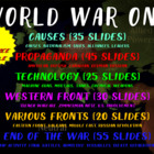 . WORLD WAR ONE UNIT (ALL 6 PARTS of the 148 slide PPT) te