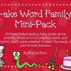 -ake Word Family Pack {Differentiated Spelling Activities}