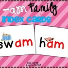 -am Word Family Word Work- Word Families Index Cards with
