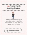 -an Word Family Activity Packet
