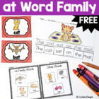 Word Family Fun! -at Family Freebie!