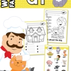 """-at"" Word Family unit - Games, Activities & Worksheets"