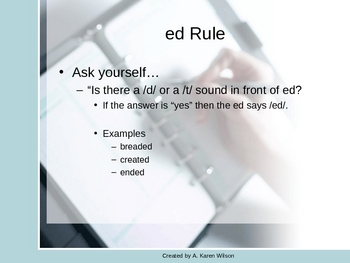 -ed Rule Practice Powerpoint