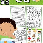 ED Word Family Games-Activities-Worksheets