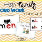 -en Word Family Word Work- A Word Families Mini Unit