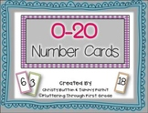 Number Card Printables 0-20