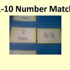 1-10 Number Match and Memory Game with Apple Theme