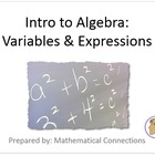 1) Intro to Algebra: Variables... Complete PPT Lesson & Gu