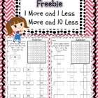 1 more 1 less and 10 more 10 less worksheet