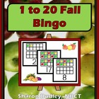 1 to 20 Fall Bingo