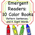 10 Color Books: Emergent Readers with Sight Words