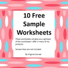 10 FREE Sample Worksheets