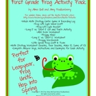 10 First Grade Frog Activities for Leap Year or Frog Unit