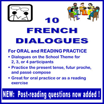 10 French Dialogues for Reading and Speaking Practice