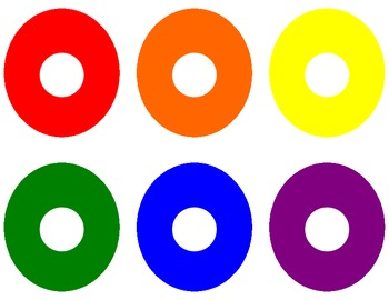10 Little Doughnuts Identifying Colors Game