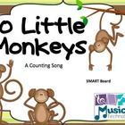 10 Little Monkeys Jumping on the Bed SMART Board Lesson