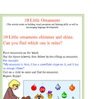 10 Little Ornaments