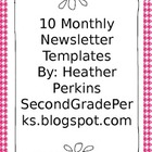 10 Month Editable Newsletter Templates