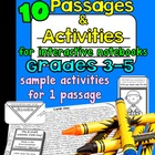 Interactive Reading Notebook Passages & Activities - UPPER