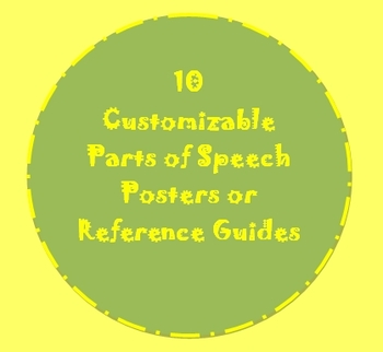 10 Parts of Speech Posters