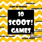 10 Scoot Games--Addition, Subtraction, Grammar, Money, Con