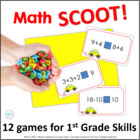 10 Scoot Games for 1st & 2nd Grade Common Core Math