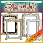 10 Silver and Gold Frames Sparkly Sparkle Borders