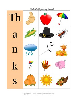 6 Thanksgiving Activities Freebie