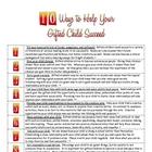 10 Ways To Help Your Gifted Child Suceed for Parents