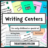 10 Writing Centers for Early Childhood or Special Education