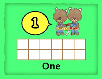 10 frame number mats- (1-20) Math Center Activity