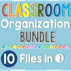 10 x Classroom Set-up Organization Resources BUNDLE