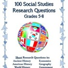 100 Daily Social Studies Research Questions Elementary/Mid