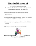 100 Day Homework Project