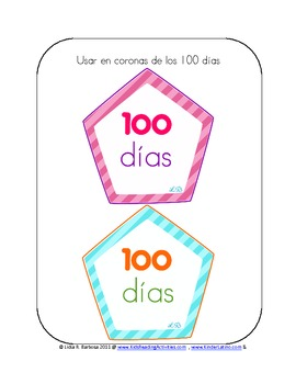 100 Days Activities- Spanish