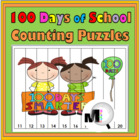 100 Days of School Counting Puzzles {Common Core Aligned}
