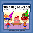 100 Days of School Math and Literacy Activities First Grad