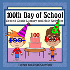 100 Days of School Math and Literacy Activities Second Gra