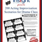 100 Drama / Theatre Arts Improv Acting Scenarios
