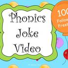 100 FOLLOWERS Freebie Phonics Joke Video