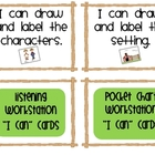 "100 Literacy Workstation ""I Can"" Task Cards"