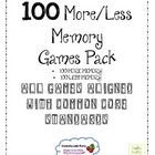 100 More & 100 Less Memory Pack - Aligned with Common Core
