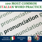100 Most Common Words in Italian Pronunciation Practice