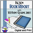 100 Points Book Report Rubric for Fiction Texts