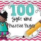 100 Sight Word Practice Sheets