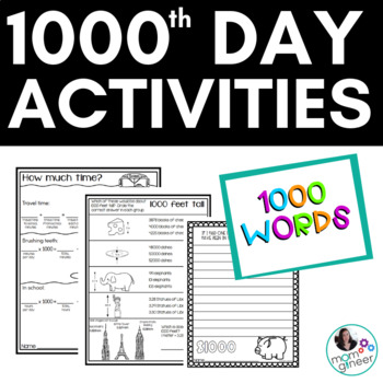 1000th Day of School! Celebrate this milestone with your 5