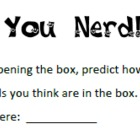 100th Day Activity - You Nerd