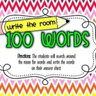 100th Day Center {Write the Room - Write 100 Words}